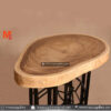 Round Suar Wood Slices Cafe Table – Old Sewing Leg