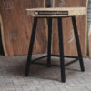 Round Wood Plaque Table Indonesian Furniture – Cube Iron Leg